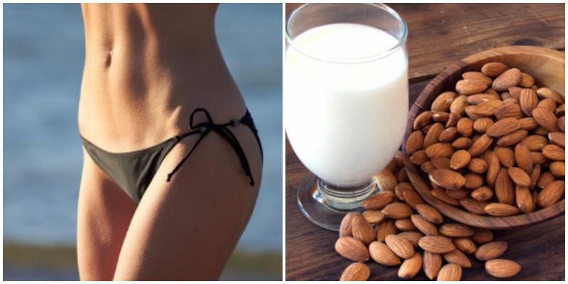 leche de almendras en dieta del vientre plano