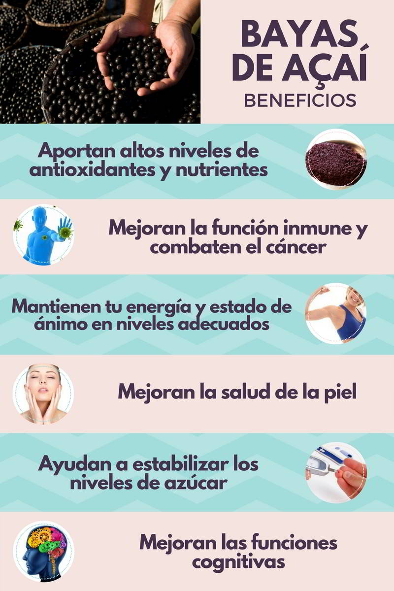 bayas de acai beneficios